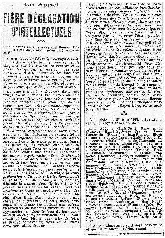 Fière_déclaration_d'intellectuels_1919