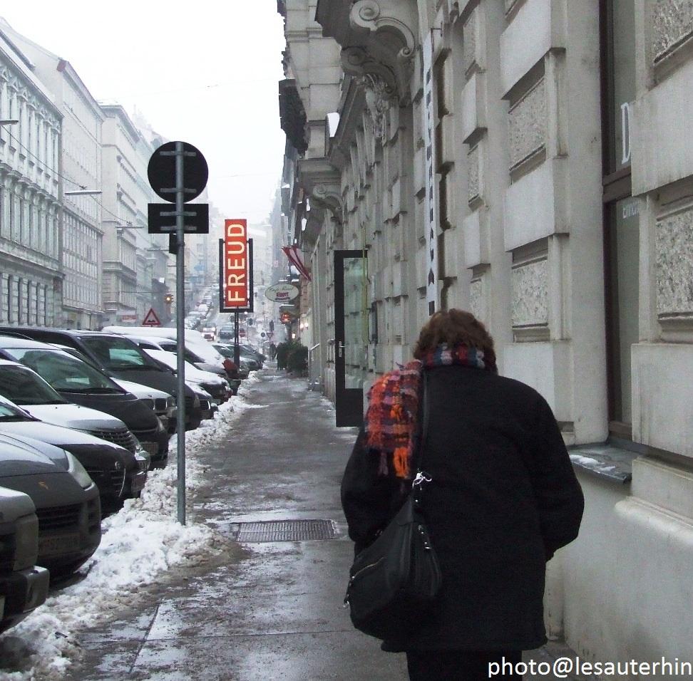 Enseigne du Musée Freud, Berggasse à Vienne