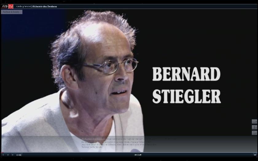Bernard Stiegler chez A  Kluge
