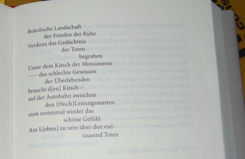"""Heiner Müller """"Warten auf der Gegenschräge / Gesammelte Gedichte Suhrkamp page 429"""