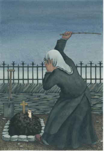 "Dessin de Nikolaus Heidelbach pour l'illustration de ce conte in  ""Märchen der Brüder Grimm - Bilder von Nikolaus Heidelbach"". Verlag Beltz & Gelberg, Weinheim"