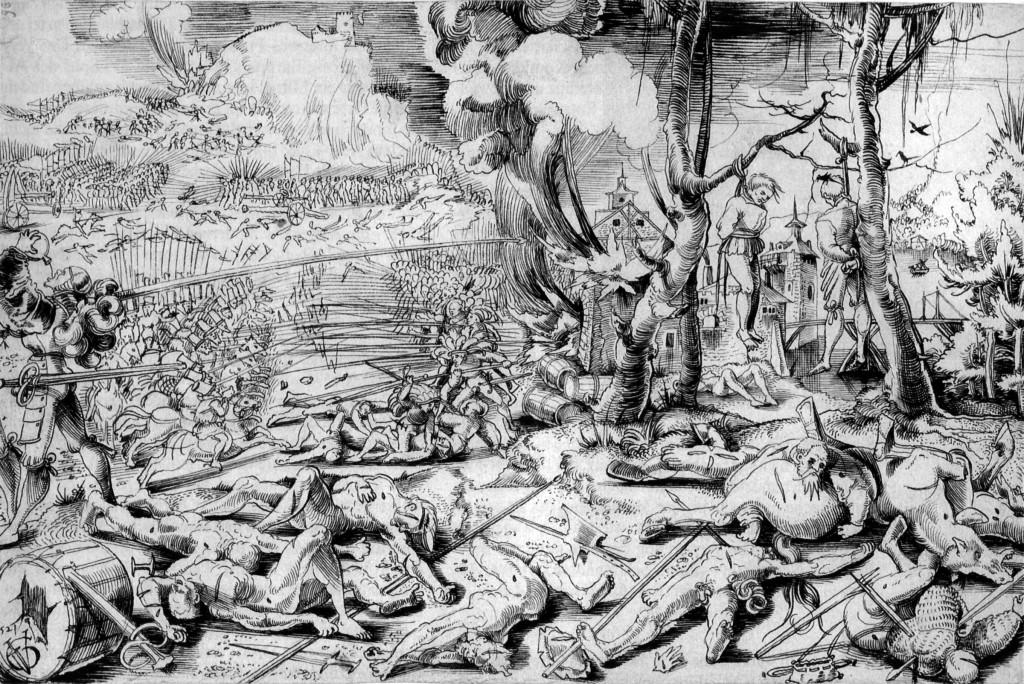 Urs Graf, la bataille de Marignan