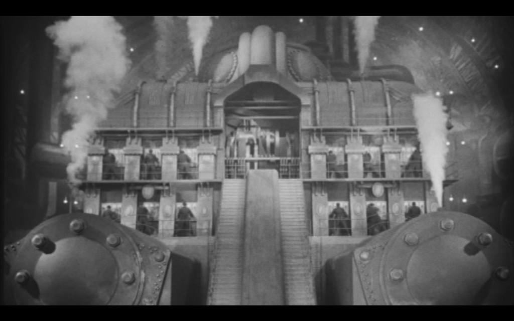 Image extraite du film Métropolis de Fritz Lang (1927). Au coeur de l'usine