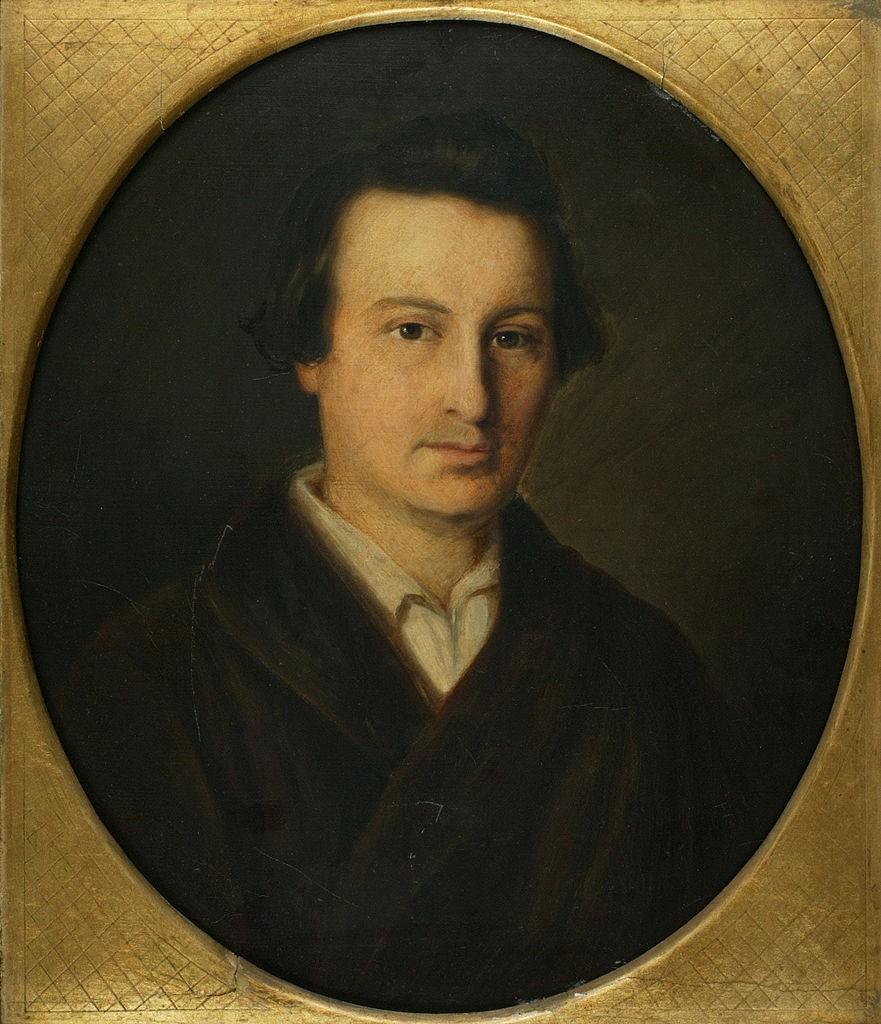 Isidor Popper : Heine à l'époque de son voyage en Allemagne (1843/44) L'original se trouve à l'Institut Heinrich Heine de Düsseldorf