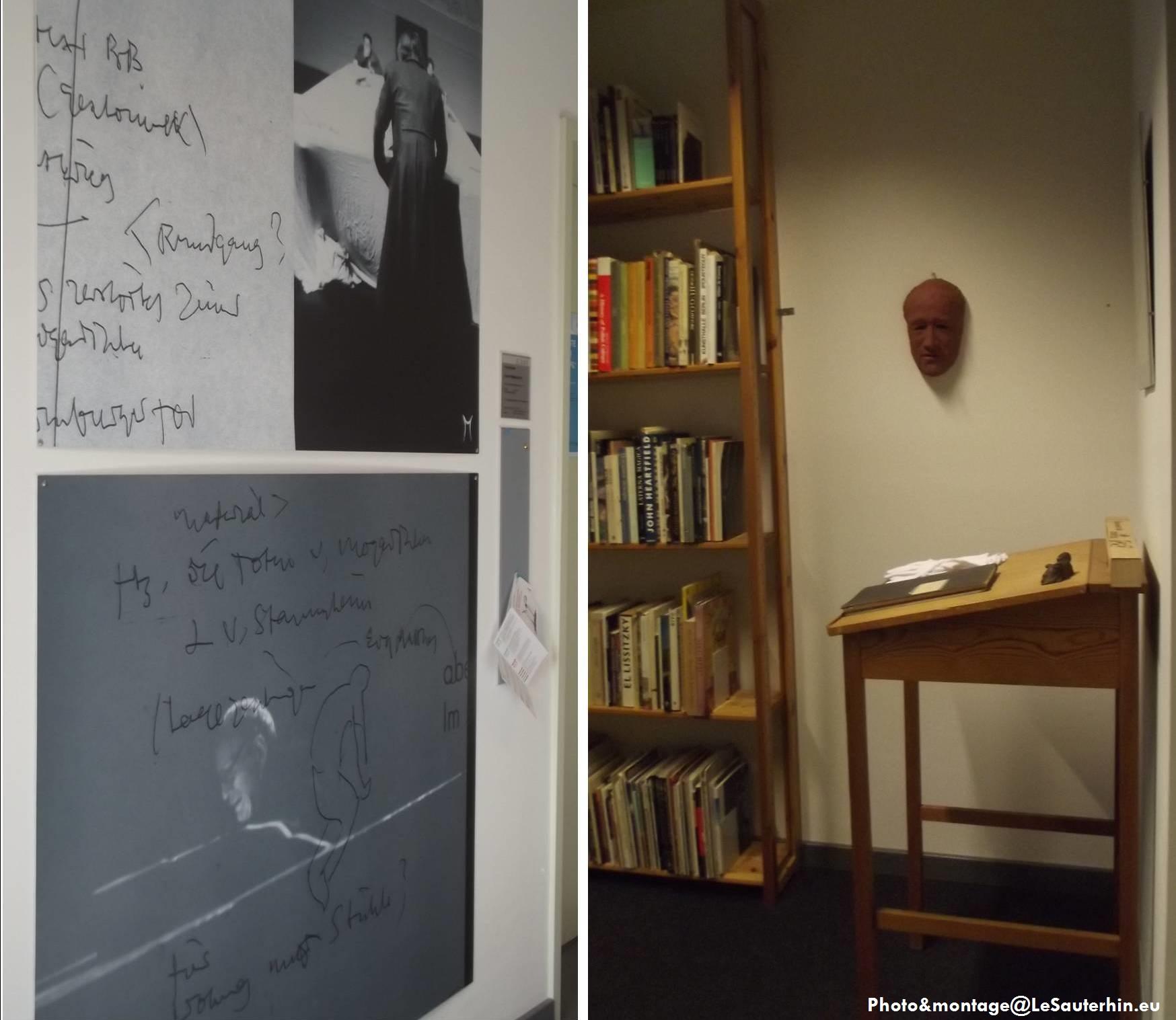 Extérieur/Intérieur de l'entrée de la Bibliothèque de Heiner Müller à l'Université Humbold de Berlin