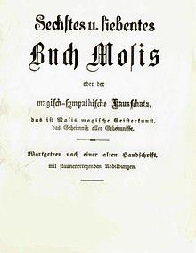 Sixième et Septième livre de Moïse Edition de Johann Scheible, Philadelphia 1853