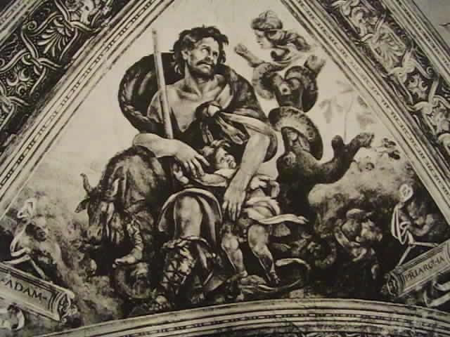Le patriarche Adam. fresque de Filippino Lippi. vers 1494-95