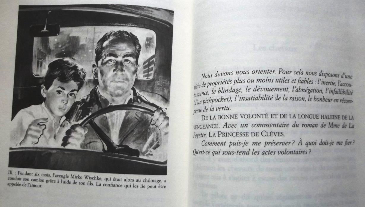 """Alexander Kluge : Qu'est-ce qui sous-tend les actes volontaires ? in """"Chronique des sentiments"""" pages 990-991"""