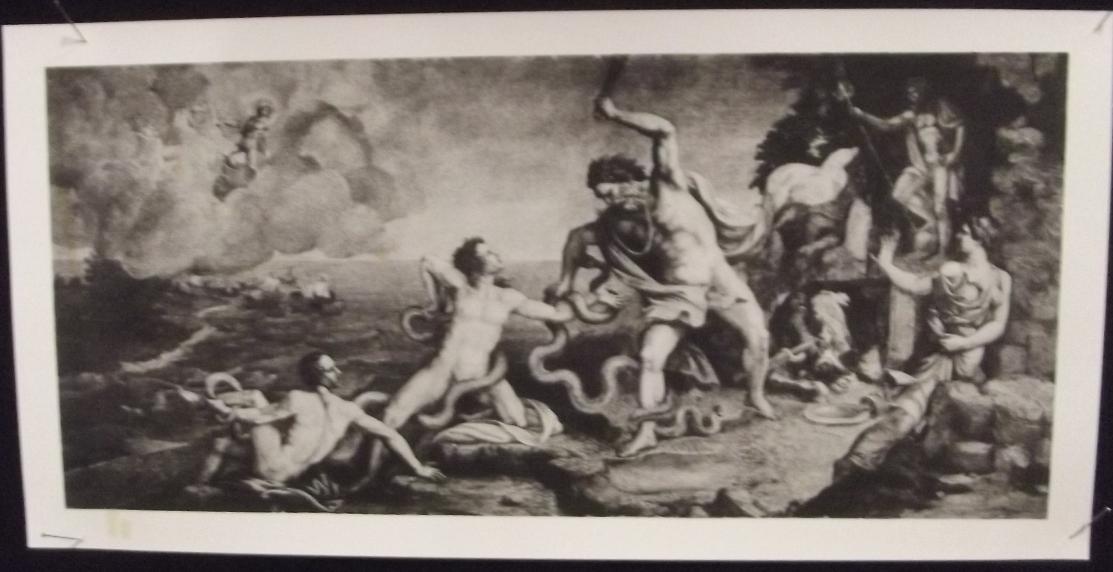 La mort de Laocoon. Fresque de Giulio Romano. vers 1538