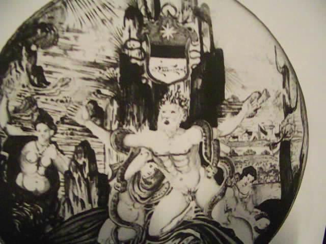 Mort de Laokoon. Plat de Gubbio, vers 1540