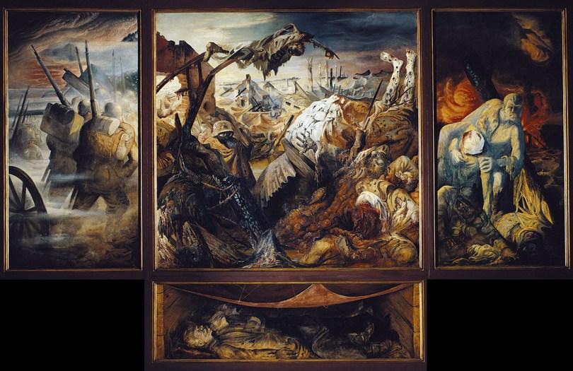 """Otto Dix : Le triptyque de """"La Guerre"""" 1932"""
