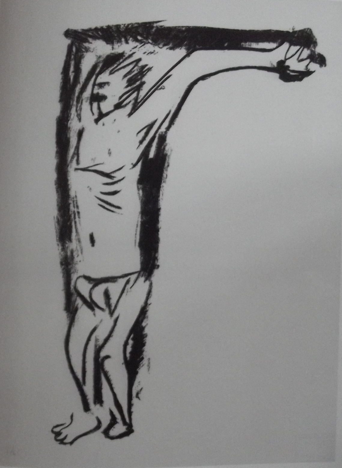 """Otto Dix : """"Le crucifié (Nietzsche)"""" 1969"""